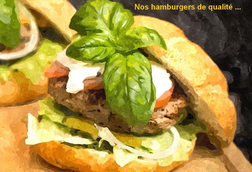 Photo d'un hamburger en art numérique.